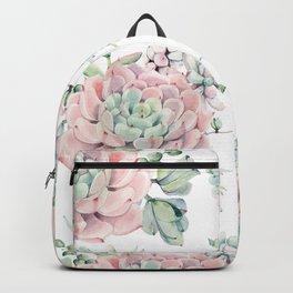 Pretty Pink Succulents Garden Backpack