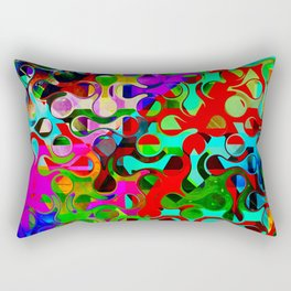 Modern Multi-colored Pattern Abstract Rectangular Pillow