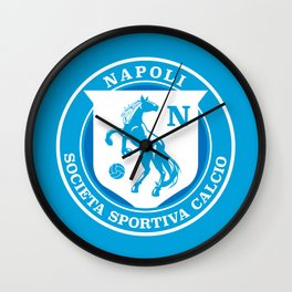 Naples Horse Football badge Wall Clock