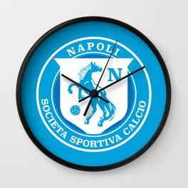 Naples Horse Football badge Wall Clock
