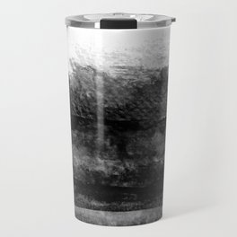 black and white layers abstract painting Travel Mug