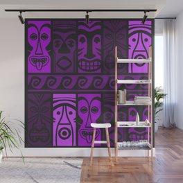 Purple Tide Tikis! Wall Mural