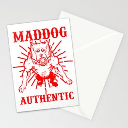 Mad dog authentic Stationery Cards
