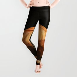 Girl Holding A Pumpkin 1 Leggings