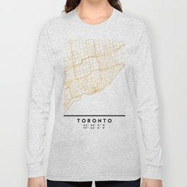 TORONTO CANADA CITY STREET MAP ART Long Sleeve T-shirt