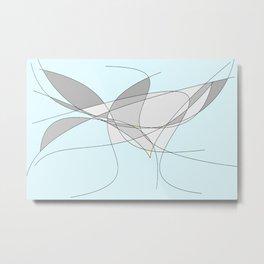 The Bird Abstract Metal Print