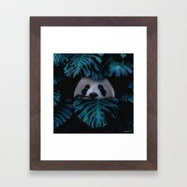 don't hide behind your doubts. Framed Art Print