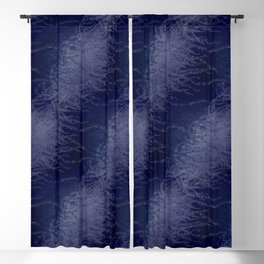 5 Wind-whipped Vines (blue II) Blackout Curtain