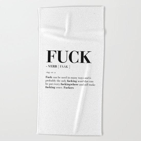 FUCK Beach Towel