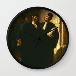 "Honoré Daumier ""Three Lawyers"" Wall Clock"