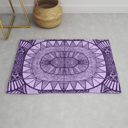 Grape Tangled Mania Pattern Doodle Design Rug