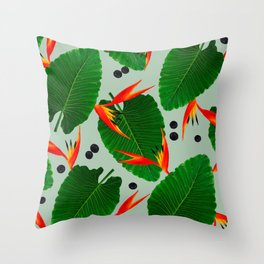 Costa Rican Print Throw Pillow