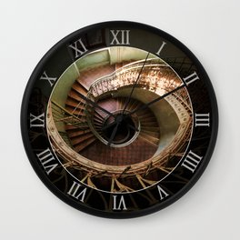 Spiral staircaise with a window Wall Clock