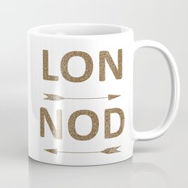 Cool LONDON Typography with arrows Coffee Mug
