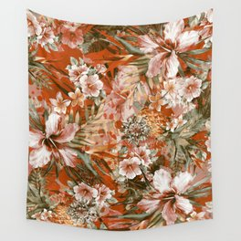 Tropical Orange Wall Tapestry
