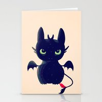 Stationery Cards featuring Night Fury by Nan Lawson
