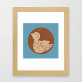 Spiral Bird Framed Art Print