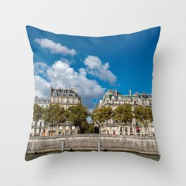 Views of Paris, France Throw Pillow