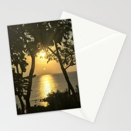 Traveling in Thailand. Beautiful Sunset at Koh Phangan Island. Stationery Cards
