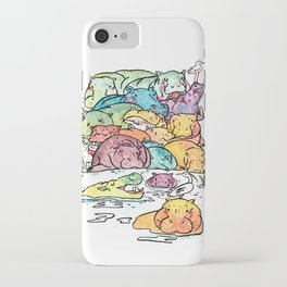 Hippo family iPhone Case