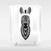 zebra Shower Curtains featuring Zebra by Art & Be