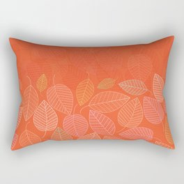 LEAVES ENSEMBLE ORANGE FLAME Rectangular Pillow