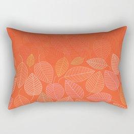 LEAVES ENSEMBLE ORANGE FLAME Rectangular Pillow