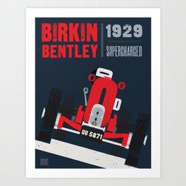 Birkin Bentley - Land Speed record Art Print