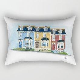 Jellybean Row - Newfoundland houses, buildings Rectangular Pillow