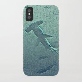 Oh, a hammerhead shark! iPhone Case