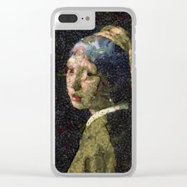 Girl With A Strawberry Earring Vegetable Decoupage Clear iPhone Case