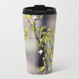 Sunny green African tree Travel Mug