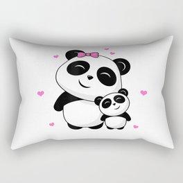 World's Best Big Sister - Cute Pandas Panda Siblings Gift T-Shirt Rectangular Pillow