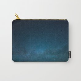 Navy Blue Star Galaxy Carry-All Pouch