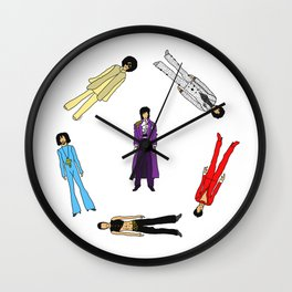 Purple Power Outfits Wall Clock