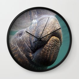I Heart Manatees Wall Clock