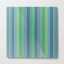 Art Stripe Green and Blue Metal Print