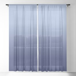 NAVY BLUE color Ombre pattern Sheer Curtain