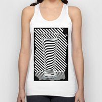 striped Tank Tops featuring Striped Water by Steve Purnell