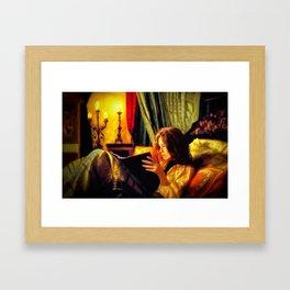 Candlelit Literature Framed Art Print