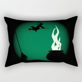 Halloween Witch Poster Background Rectangular Pillow
