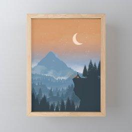 Camping spot Framed Mini Art Print