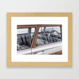 Vintage car brown 4 Framed Art Print