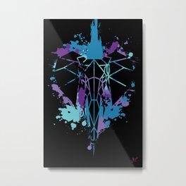 Elephant - Blue Chaos Metal Print