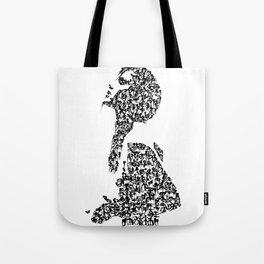 Kanji Calligraphy Art :woman's face #26 Tote Bag