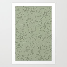 She's Green Art Print