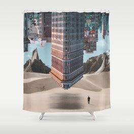 New York Upside Down Surreal Shower Curtain