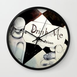 drink me NOT poison Wall Clock