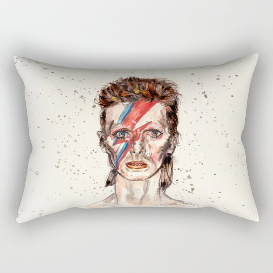 Bowie Inspired David Rectangular Pillow