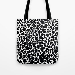 Animal Print Cheetah Black and White Pattern #4 Tote Bag